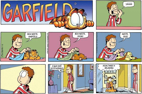 Resultado de imagem para QUADRINHOS do Garfield